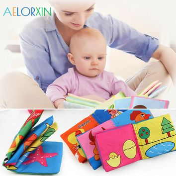 2018 Infant Educational Cloth Book Letter Pattern Cognitive Baby Toy Learning Infant Book Development  Boys Girls Newborn Animal