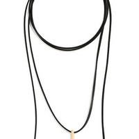On My Honor Gold and Black Wrap Necklace