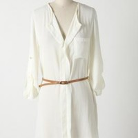 Deserted Island Belted Shirt Dress in Ivory | Sincerely Sweet Boutique