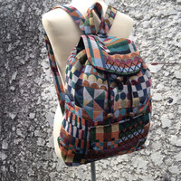 Big Boho Tribal Backpack Bags Laptop Case Diaper Aztec Ethnic Hippies Ethnic Hobo Tapestry Hipster Native Pattern Beach For School Messenger