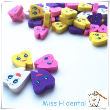 50 pcs Creative Teeth type Gift pencil eraser Dental Clinic, Special gift for dentist Medical lab stationery