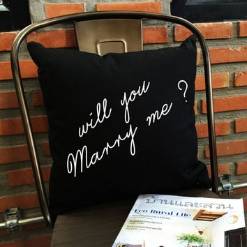 Will You Marry Me Throw Pillow, Marry Me Throw Pillow,Bride Gifts, Funny pillow, married pillow cover