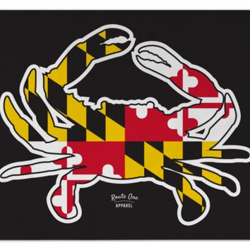 Maryland Full Flag Crab (Black) / Flag