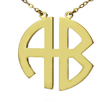 Two-Letter Monogram Necklace