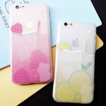 Fruit drink mobile phone case for iphone 6 6s 6 plus 6s plus + Nice gift box 080901