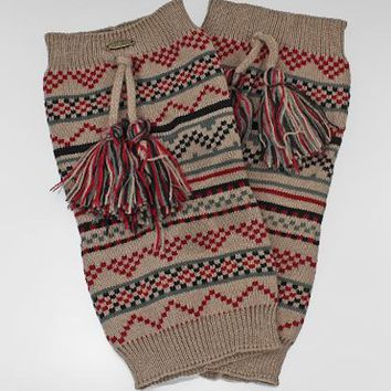 Tribal Pattern Knit w/Tassels Boot Cuffs