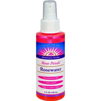 Heritage Products Rose Petals Rosewater Spray - 4 Fl Oz