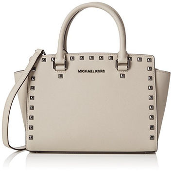 Michael Michael Kors Selma Medium Studded Leather Tote
