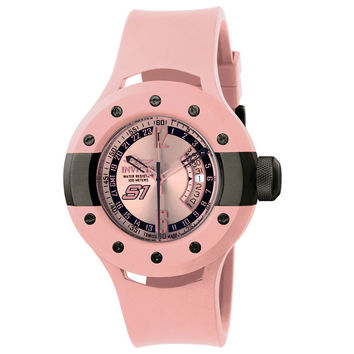 Invicta 11992 Men's S1 Rally Monotone Pink Dial Pink Rubber Strap GMT Watch
