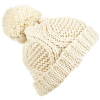 Cable Pom Pom Hat - Hats  - Bags & Accessories