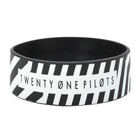 Twenty One Pilots Stripe Rubber Bracelet