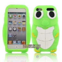 Turtle Cute 3D Silicone Back Rubber Case Cover Skin For Apple ipod touch 5 5GEN