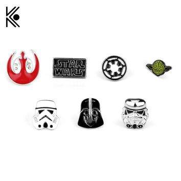 Star Wars Stormtrooper, Star Wars Darth Vader, Rebel Alliance Millennium Falcon Pins 15 Styles