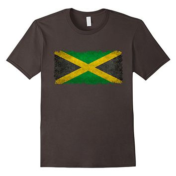 Jamaican Flag T-Shirt in Vintage Retro Style