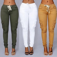 4 Colors 2016 Women Sport Pants Waist Drawstring Fashion Pocket Pants [9221777668]