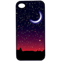 Moon and Stars iPhone 4 or 4s Case - back to school, space, science, desert