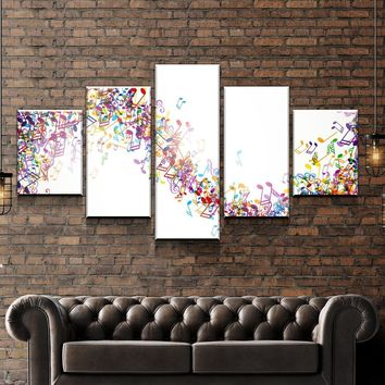 Colorful Notes Canvas Set