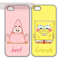 Sponge bob Best Friend cases for iPhone or Galaxy, Patrick and Spongebob, BFF iPhone case Samsung Galaxy case, Two Case Set