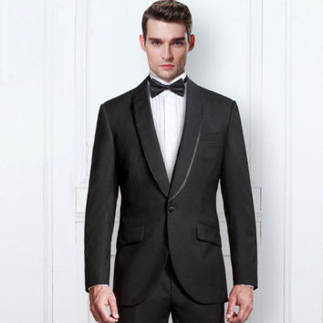 Tunic with Silver Wool Beaded Tuxedos Suit
