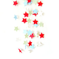 Christmas Felt Star Garland - Christmas Star garland, Christmas bunting, felt bunting, birthday decorations