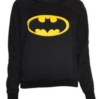 Womens Black Batman Sweater Top: Clothing