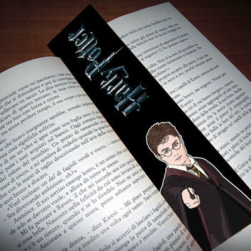 HARRY POTTER bookmark - cartoon-style - High quality print