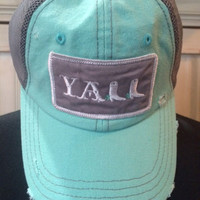 Y'all Hat Mint/Grey (PreOrder)