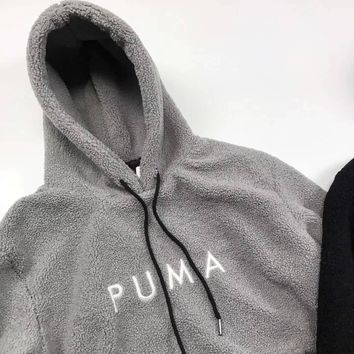 puma cashmere fabric warm pullover hoodie