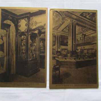 Vintage Feagans & Co Jewelry Store Postcards