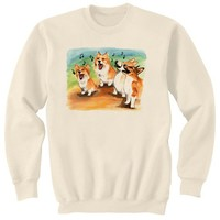 Corgi Choir Dog Art Sweatshirt Ultra Cotton Small  by artbyljgrove