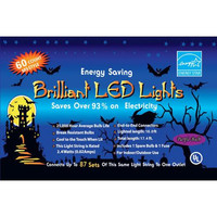 Halloween Decorations: Led Light Set 60 Light Purple
