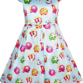 Sunny Fashion Girls Dress Apple Blossom Strawberry Kiss Poppy Corn 2017 Summer Princess Wedding Party Dresses Clothes Size 4-12