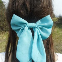 Oversized Turquoise Bow from Emma Warren
