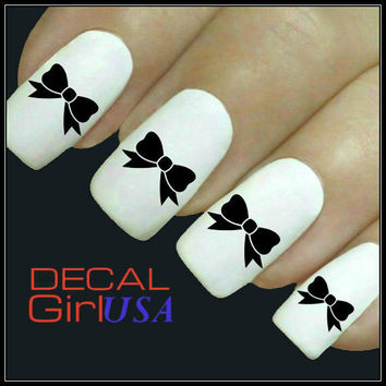 Bow Nail Art Decals 32 Bow Nail Decals