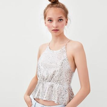 SEQUIN TOP DETAILS