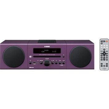 Yamaha - 30W Micro Component Bluetooth Wireless System with Apple® iPod®/iPhone® Dock - Purple