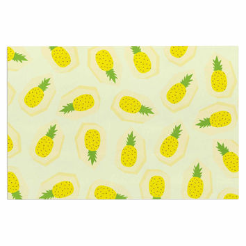 "Strawberringo ""Pineapple Pattern"" Yellow Fruit Decorative Door Mat"