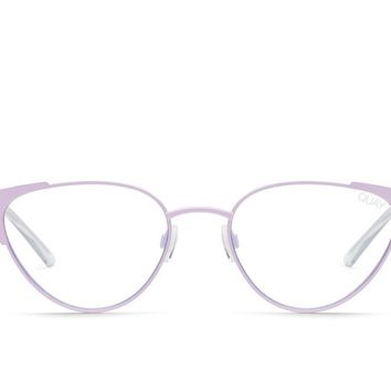Quay Song Bird Lilac Eyeglasses / Clear Blue Light Lenses