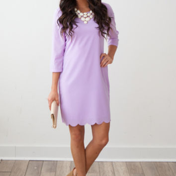 Cottontail Shift Dress- Lavender