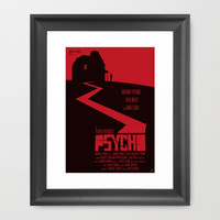 Alfred Hitchcock's Psycho Framed Art Print by Alain Bossuyt