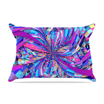 "Danny Ivan ""Flavours Explosion"" Purple Blue Pillow Case"