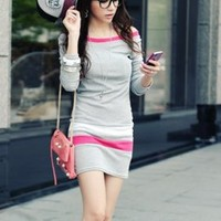 Young Style Gray Long Sleeve Girls Tee : Yoco-fashion.com