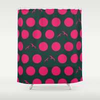 Polka Dot Bird V.1 Shower Curtain by C Designz