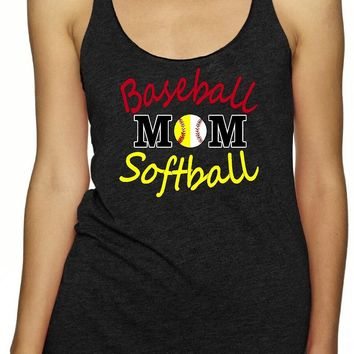 Baseball Softball Mom, Sports Mom Tank Tops | Our T Shirt Shack