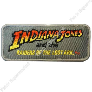 "4.5"" Indiana Jones RAIDERS OF THE LOST ARK TV MOVIE FILM Series Uniform Cosplay Costume Embroidered Iron On Patch Goth Punk"