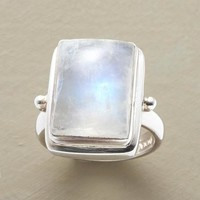 Rainbow Moonstone Cabochon Ring | Robert Redford's Sundance Catalog