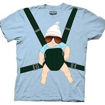 The Hangover Baby Carrier T-Shirt Alan Tee Shirt Costume M L XL XXL New Licensed