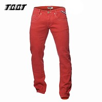 Man fashion pants full length pants straight stretch slim pants colored straight pants