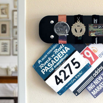 Marathon Running Medals Display Ebony Mediocre