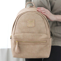 Monopoly Wanna be professional leather small backpack